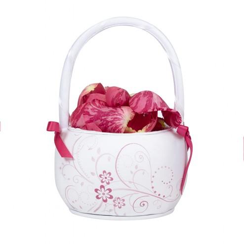 Pink Floral Basket
