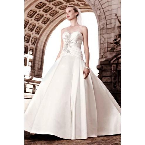Oleg Cassini Satin Wedding Dress1