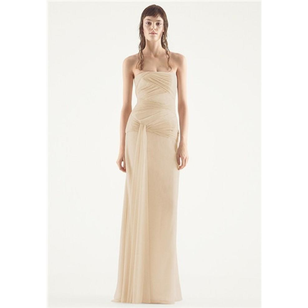 White Vera Wang Chiffon Column Wedding Dress   Victoria's Bridal.eu