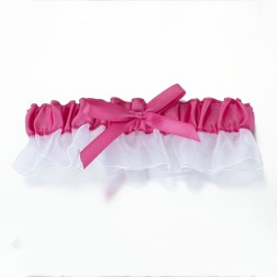 Pink Satin Garter